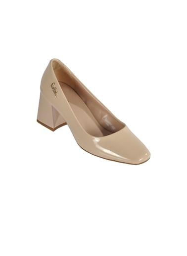Pierre Cardin Pierre Cardin 50315 Siyah Rugan Kadın Topuklu Ayakkabı Bej